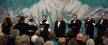 The Voskresenije Choir singing at Rosyth in November 2011